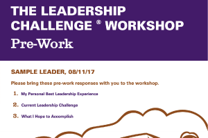 The Leadership Challenge PreWork Report